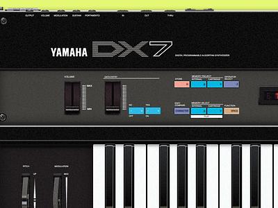Yamaha DX7 synth yamaha dx7 sketch 80s interface music