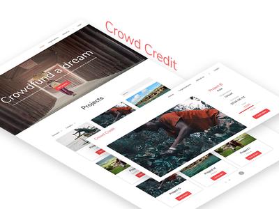 CrowdCredit - V2 website web ux ui design ui mockup interface design credit crowd