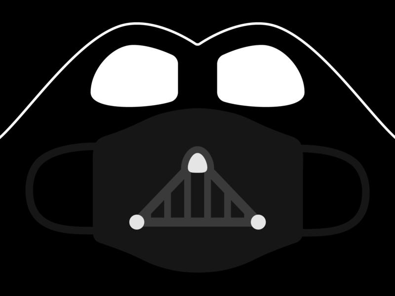 Playoffs: Face Mask Challenge star wars darth vader illustration mask playoffs vector