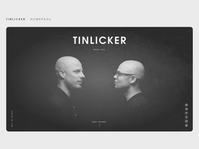 Website Concept - Tinlicker website webdesign dark ui design dark adobe xd