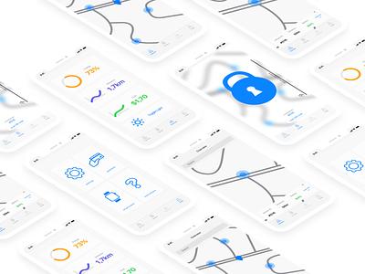 CYBIKE uxui ui ux simple renting interface app design app bike