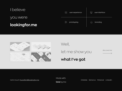 lookingfor.me ? concept portfolio simple clean webdesign web design interface ui ux