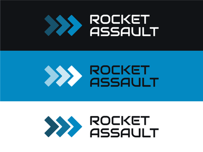 Logo Concept - Rocket Assault branding design brand design rocket branding concept vector simple clean icon logo
