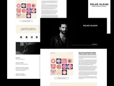 Webdesign Concept - Eelke kleijn ux ui web website landing landingpage design webdesign redesign concept responsive minimal clean simple music dj white black