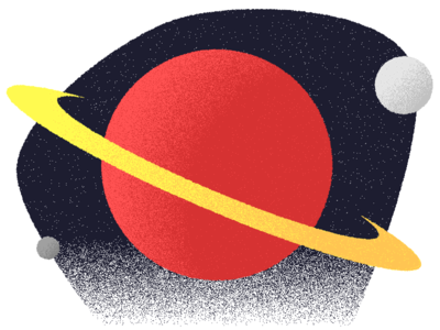 Spacey experimenting space grain illustration