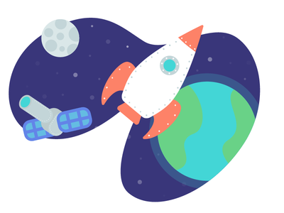 Spaceploration space illustration