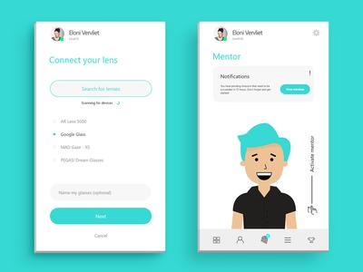 Gåva - Future of Education flat concept clean branding design app app design mockup ux ui