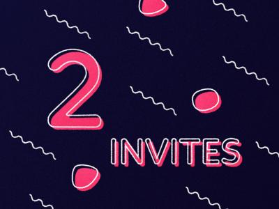 2 Invitations! dribbble join invitation 2 invites invite