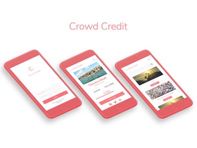 CrowdCredit app mockup iphone credit crowd design interface website web design ui design ui ux