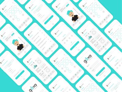 Gåva - Future of Education - V2 ux ui mockup flat concept clean branding design app icons