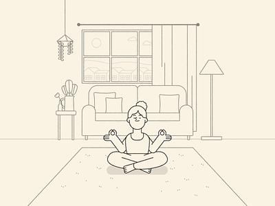 Yoga styleframe character design styleframe illustrator vector yoga design illustration