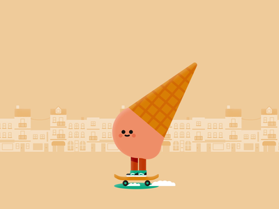 Ice Cream Skater 2020 character design skate ice cream illustrator motion design after effects vector illustration motion graphics motion animation 2d animation