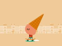 Ice Cream Skater 2020 character design skate ice cream illustrator motion design after effects vector illustration motion graphics motion animation 2d animation
