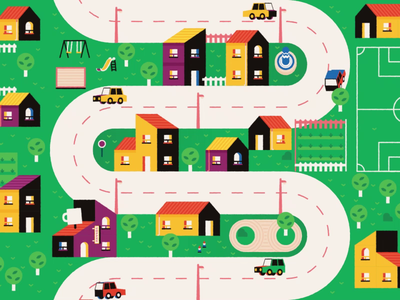 A town 🏘️ design motion design illustrator animation after effects motion graphics town illustration vector map motion