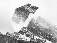 Snowy mountain - Geometric landscapes