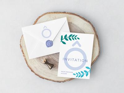 l'Ô - VIP invitation card concept