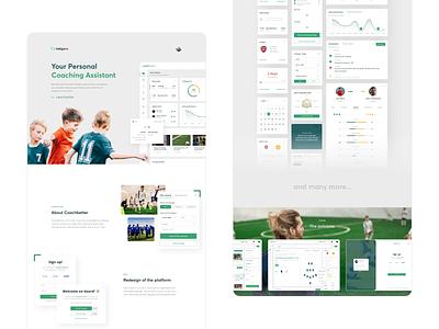 Coachbetter CS uiux dashboard case study management coaching assistant football webdesign product design