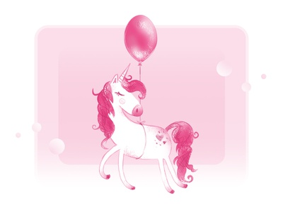 Unicorn with a balloon