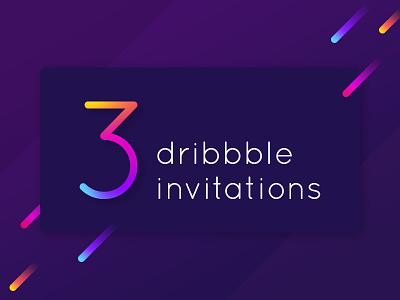 3 invites dribbble invites invitation dribbble-invitation
