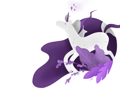 Purple unicorn drawing purple unicorn illustration uiux procreate