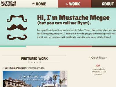 New Website website rebrand web mustache portfolio