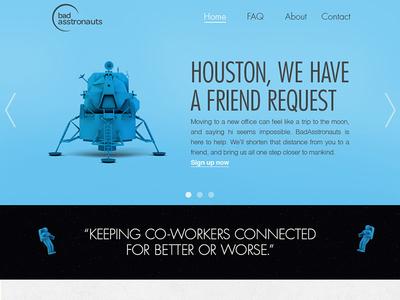 Fake website for a fake company