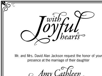 Wedding Invite wedding letterpress type typography print
