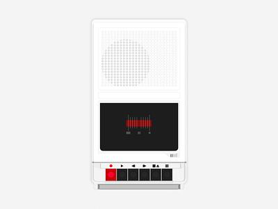 Cassette Player minimalism design flat illustration