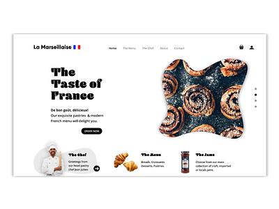 La Marseillaise Concept Hero Page foodie graphic design ux branding ui art direction design