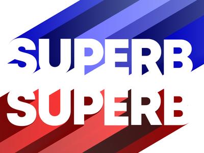 Superb superb typography flat art direction graphic design art illustration design