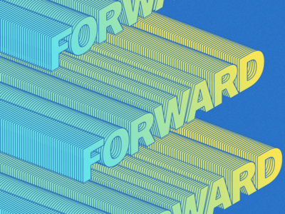Forward motivation forward conceptual daily isometric artdirection flat art direction art director graphic design typography design illustration