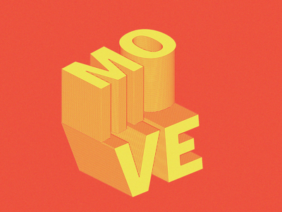 Move goodvibes move isometric illustration isometric design isometric art isometric vector artdirection graphic design typography flat art art direction design illustration