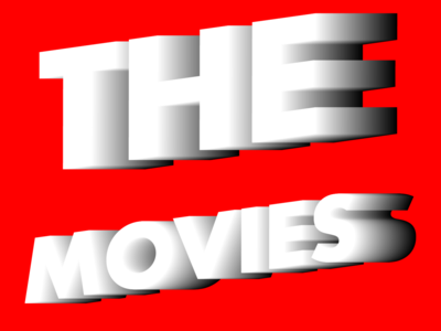 The Movies isometric 3d typography futura symetry artdirection typography flat art direction graphic design illustration design