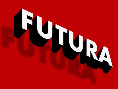Futura vector conceptual 3d typo futura flat typography art direction graphic design illustration design