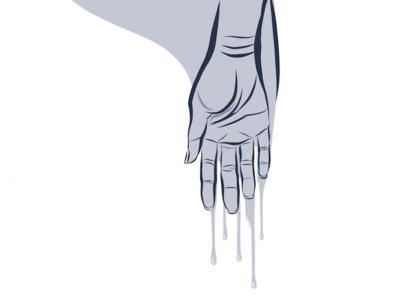 Dripping Hand
