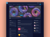 Dark Theme Linked in Redesign