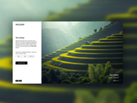 Slider Concept for Holiday Planning Website