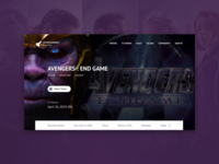 Movie website landing page
