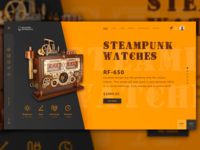 First Screen of the Steampunk Watch Store