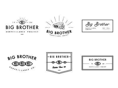 Big Brother Surveillance Co. eye surveillance logo branding icon graphic design design illustration