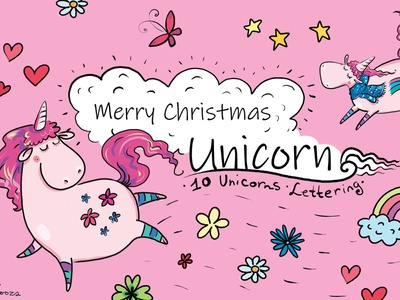 Christmas Unicorn zooza christian design prints love bug new year merrychristmas christmas unicorn