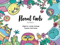 Floral Owls - design collection