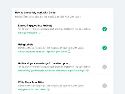 Bardo — Onboarding uxui ux product design productdesign project management tool project management app project management product management taskmanagement todo designsystem onboarding