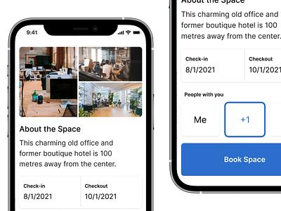 Book a Space concept idea mobile uiux ux ui product product design booking mobile app
