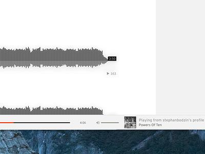SoundCloud for Mac - Player minimal controls audio desktop ux ui player music app mac soundcloud