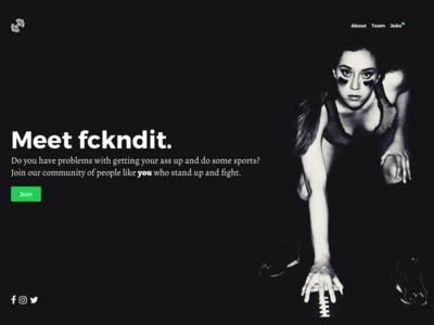 Landingpage: fckndit challenge pro running motivation football girls community app sports