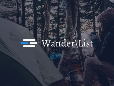 Wanderlist Logo comfortzone camping newslettersignup ui airbnb nomadlist dailyui hiking wanderlust