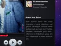 a Music Player UI