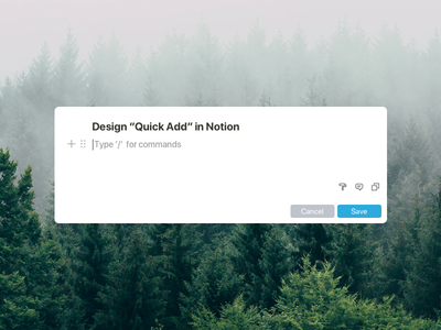 "Notion ""Quick Add"" Feature makeitbetter idea dropbox paper dropbox google docs todoist things quick add notebook note notion"