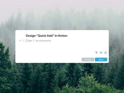 """Notion """"Quick Add"""" Feature makeitbetter idea dropbox paper dropbox google docs todoist things quick add notebook note notion"""